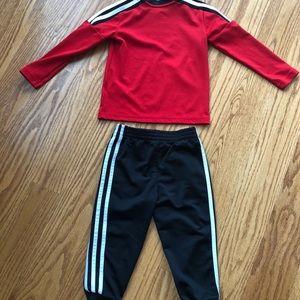 adidas Matching Sets - Toddler Boys Adidas Set - Red - Gently Worn